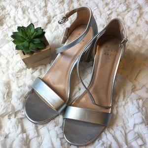 Universal Thread Silver block heel sandal